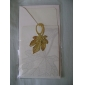 Novelty Maple Leaves Pattern Bookmark (Golden)