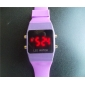 Unisex LED Digital Square Case Silicone Band Wrist Watch (Assorted Colors) Cool Watch Unique Watch