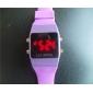 Montre LED Digitale, En Silicone, Unisexe - Couleurs Assorties