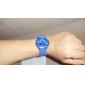 Trendigt Quartz-ur med Blått Silikonband