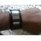 Reloj Pulsera Futurista de LED Blanco con Correa Negra