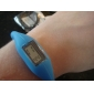 Unisex Digital Silicone Anion Band Bracelet Watch (1-Pair, Black & Blue) Cool Watches Unique Watches