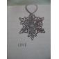 oco estilo floco de neve de aço inoxidável marcador (prata)