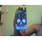 Skull Head Pattern Hard Case for iPhone 4 and 4S (Multi-Color)
