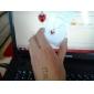 colar de coração padrão cristal austríaco eruner®classic (vermelho)