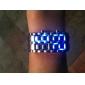 Herren Armbanduhr / Armband-Uhr digital LED / Kalender Edelstahl Band Cool Schwarz Marke