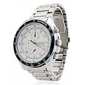 Men's Water Resistant Alloy Analog Quartz Wrist Watch (Silver) Cool Watch Unique Watch