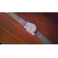 simple, cadran rond en acier argenté bande quartz analogique montre-bracelet des femmes