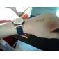 Montre à Quartz, à Mouvement, Décoration en Diamant, Bracelet en Silicone - Bleue et Noire