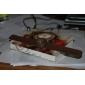 желе из силиконовой лентой кварцевые наручные часы для женщин (коричневый)