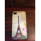 Eiffel Pattern Hard Back Case for iPhone 4 and 4S (Multi-Color)
