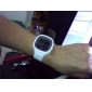 Unisex Jelly Black Dial White Silicone Band Quartz Analog Wrist Watch Cool Watch Unique Watch