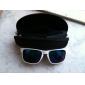 unisex hvit ramme pc objektiv uv400 solbriller med bæreveske