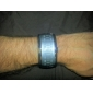 Relógio de Pulso Futurista Digital com LED Azul (Preto, Branco, 1 par)