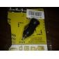 Coche 700ma cigarrillo alimentado usb adaptador / cargador (CC 12v / 24v)-negro para el iphone 6 iphone 6 más