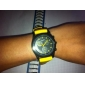Unisex analogni kvarcni ručni sat, sa silikonskim remenom  (žuti)
