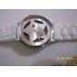 Unisex Hollow Star Style Silicone Band Quartz Analog Wrist Watch (White)