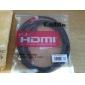 3m 10ft v1.4 1080p 3D de câble hdmi 4k haute vitesse w / tores de ferrite - type plat