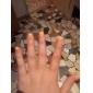 7pcs cepillos de uñas de arte con mango blanco