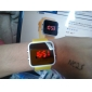 Unisex Red LED Digital Jelly Yellow Silicone Band Wrist Watch Cool Watch Unique Watch