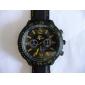 V6® Men's Sports Style Black Silicone Band Quartz Wrist Watch  Cool Watch Unique Watch