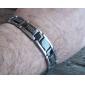 Eruner® Men's Great Wall Grain Titanium Steel Bracelet (Silver)