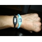 Unisex Digital Silicone Anion Band Bracelet Watch (1-Pair, Black & Blue)