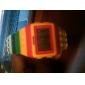 Orologio LED stile Lego, multicolore, con luce notturna - Giallo