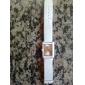 унисекс Пу аналоговые кварцевые наручные часы с Эйфелевой башни образца (белые)