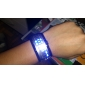 Couple's Watch Futuristic Blue LED Digital Bracelet (Black & White, 1-Pair)  Cool Watches Unique Watches