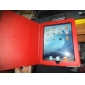 Estuche Duro de Cuero PU + Soporte para el Apple iPad - En Rojo