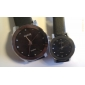 Couple's Black Dial Pu Band Quartz Analog Wrist Watches (1-Pair) Cool Watches Unique Watches Fashion Watch