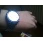 Armbanduhr mit Spiegel Oberfläce und Blauer LED Anzeige
