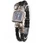 Women's Quartz Analog Black PU Rope Band Bracelet Watch Cool Watches Unique Watches