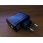 ue prise usb ac dc alimentation chargeur mural adaptateur mp3 mp4 dv chargeur (noir)