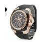 Herren-Sport-Gummi-Stil analoge Quarz-Armbanduhr (schwarz)