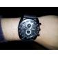 V6 Hommes Montre Militaire Montre Bracelet Quartz Quartz Japonais Silikon Bande Noir Noir