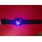 Men's Watch Digital 29 LED Red & Blue Light Black Silicone Strap