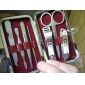 6PCS Check Packaging Stainless Steel Nail Clippers Scissor Manicure Pedicure Kit