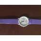 Koera Style PU Leather Band Fashion Cute Students Lady's Wrist Watch - Purple