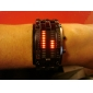 Men's Watch Blue LED Digit Display Steel Band