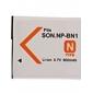 900mAh pile pour appareil photo NP-BN1 pour Sony Cybershot DSC-W320, W350, W380