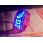 conception future bracelet de montre au poignet bleu LED - Rouge