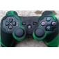 de protección de doble color de estilo funda de silicona para PS3 controlador (ejército verde y negro)