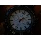 nuovo elegante da uomo nero sportivo orologio da polso in silicone
