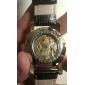 Elegante Reloj Pulsera Automático de Cuero PU Para Hombres (Negro)
