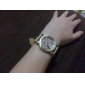 унисекс ПУ аналоговые кварцевые наручные часы (коричневый)