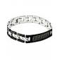 Eruner®Great Wall Design Titanium Steel Bracelet (Black)