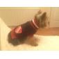 Кампус стиле V-образным вырезом свитера для собак (XS-XL, синий)