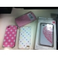 Unique Printing Protective Back Case for iPhone 4 - Colorful Dots